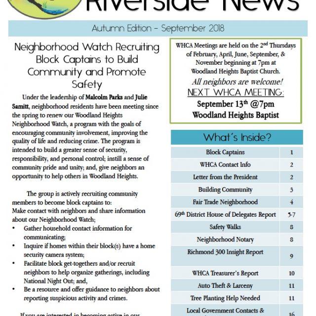 Fall 2018 Riverside News