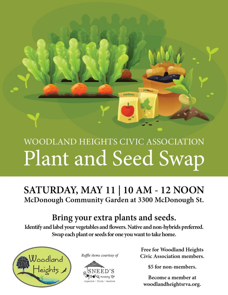 Plant and Seed Swap - May 11, 2019 at McDonough Community Garden, 10am-12noon