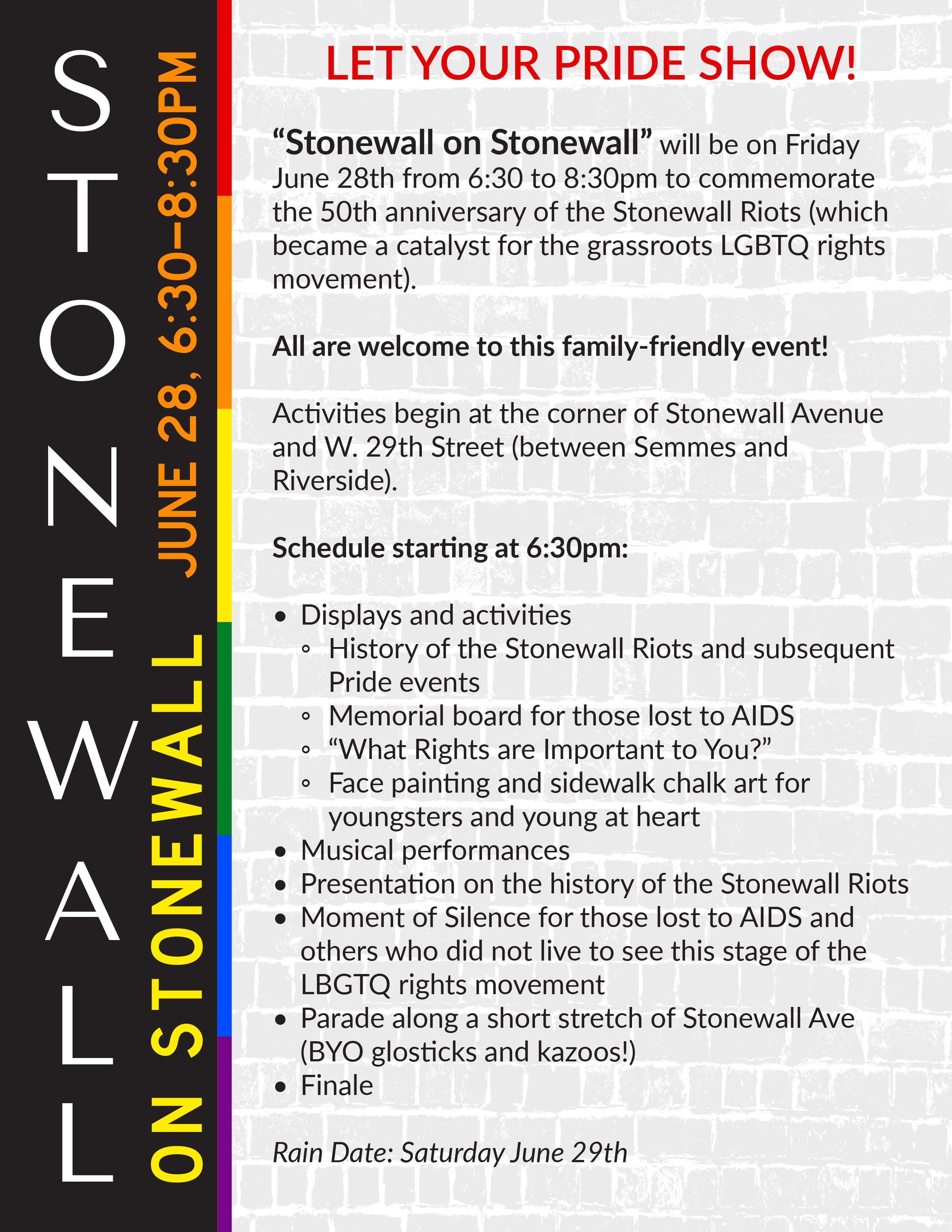 Stonewall on Stonewall