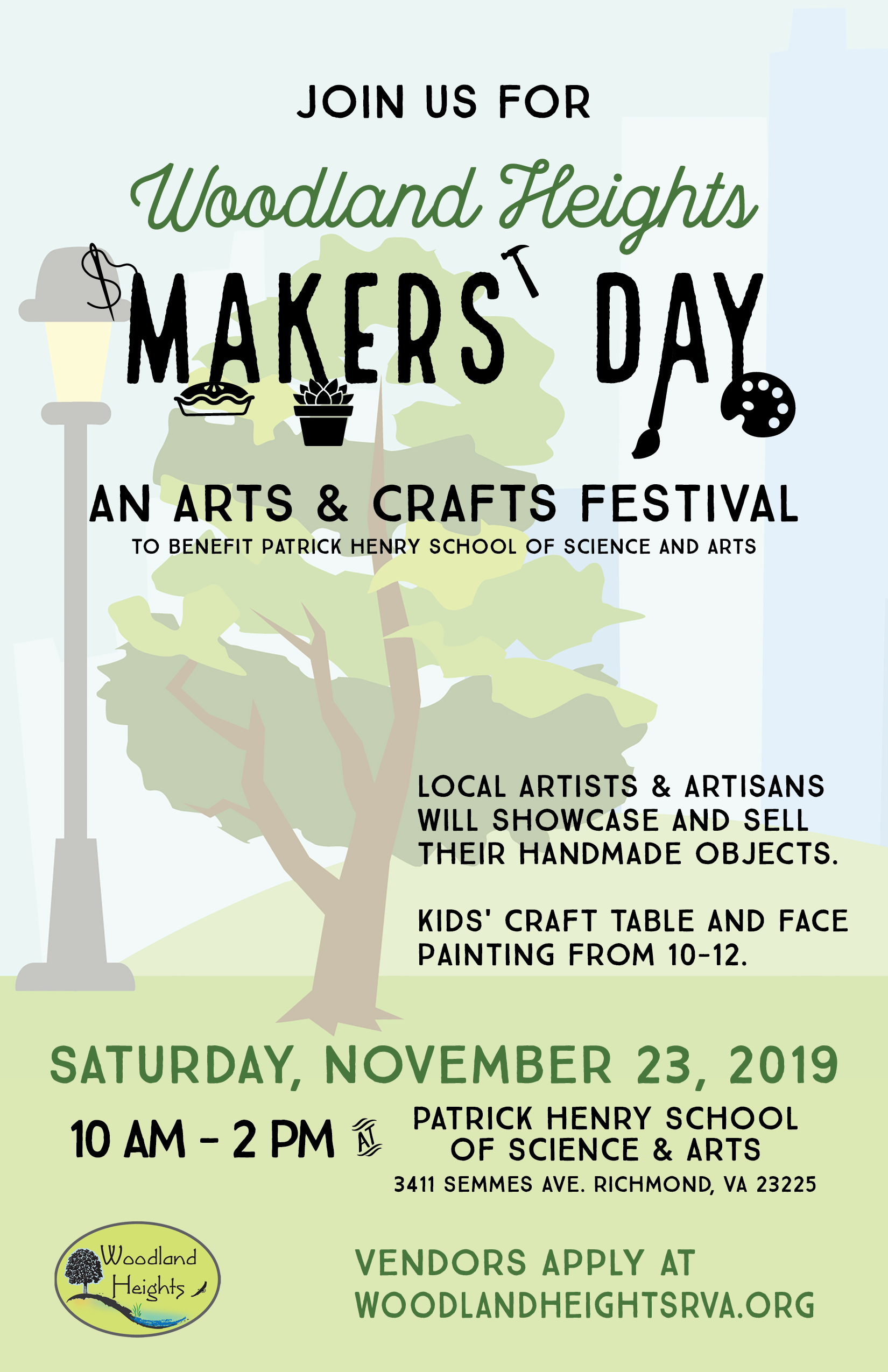 Woodland Heights Makers' Day Poster